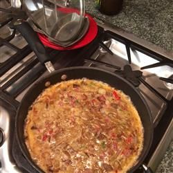 Tortilla Espanola (Spanish Tortilla)...add bell peppers and jalapeños ...