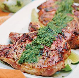 ... sounds delicious. Should try... Grilled Thai Ginger-Garlic Pork Chops