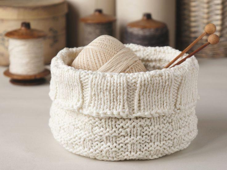 Basket Knitting Pattern : Knitted storage basket Crafts Pinterest