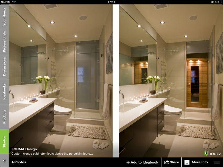 Pin by elisa ffo on windowless bathroom pinterest for Windowless bathroom design ideas