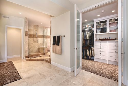 Master bathroom walk in closet bathroom ideas pinterest for Master bedroom plans with bath and walk in closet