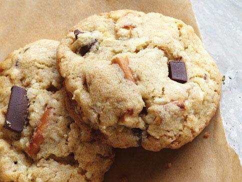 White Chocolate Cranberry Pretzel Cookies (Jumbles) Recipe ...