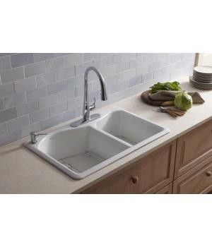 Kohler Lawnfield Sink : Kohler Lawnfield Offset Self Rimming Double Kitchen Sink- this is the ...