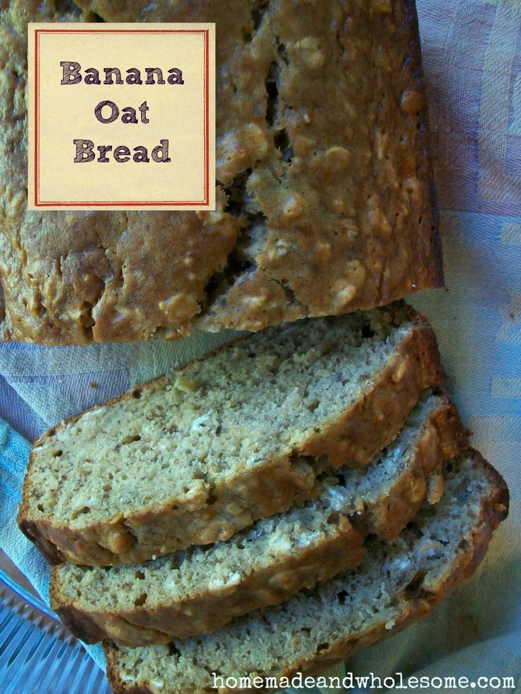 "Banana Oat Bread. This is good. I replaced the eggs with flax ""eggs ..."