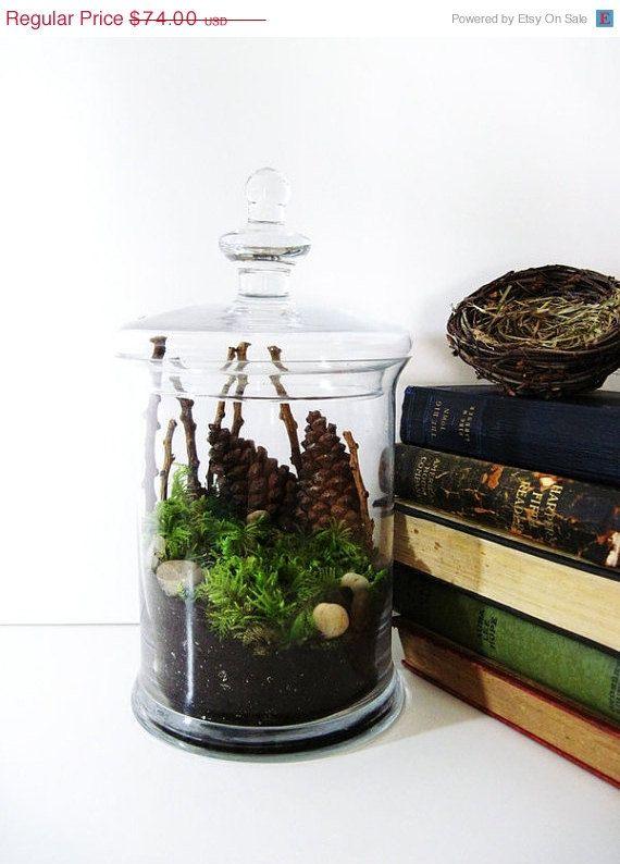 Possible DIY woodsy wedding centerpiece