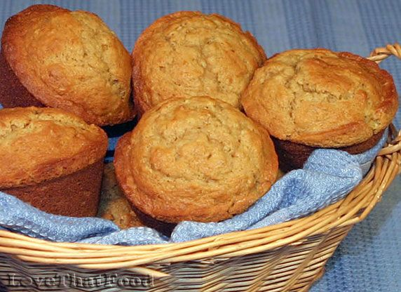 Banana, Cream Cheese & Oatmeal Muffins | Foods | Pinterest