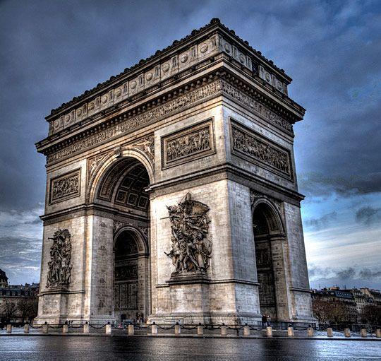 The Arc De Triomphe Paris Historical Buildings Pinterest