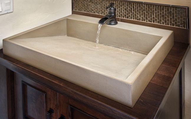 Concrete Bathroom Sink : ... floor let concrete countertops atlanta help you with you concrete sink