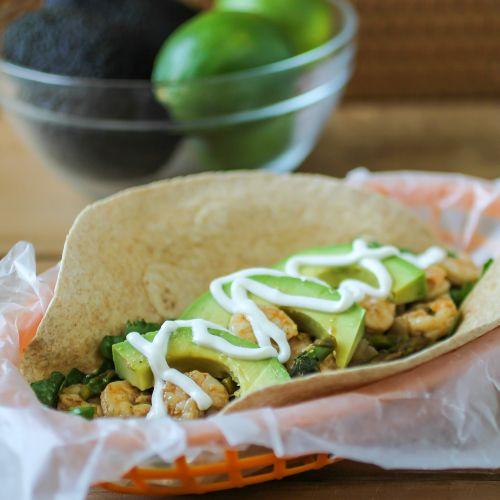 Chipotle Shrimp and Asparagus Soft Tacos | Food and Recipes | Pintere ...