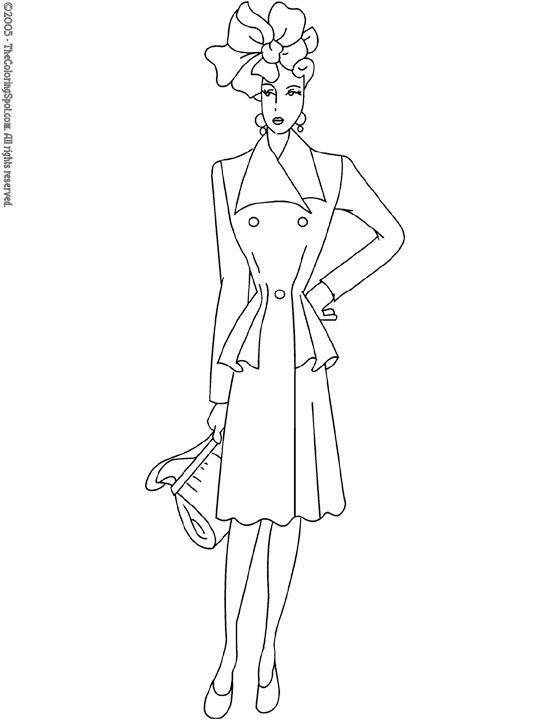 Pin By Lorna Thomas Murray On Needlework Women Pinterest Fashion Model Coloring Pages