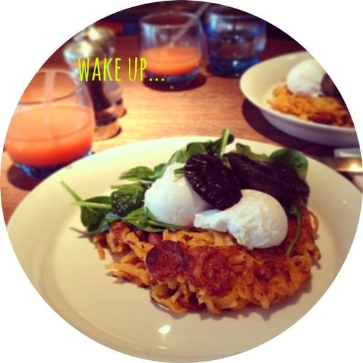 what // chorizo hash browns, with mushroom and poached eggs where ...