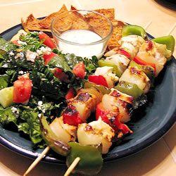 ... like this: greek chicken kabobs , greek chicken and chicken kabobs