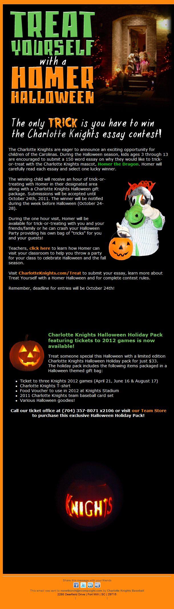 halloween essay contest