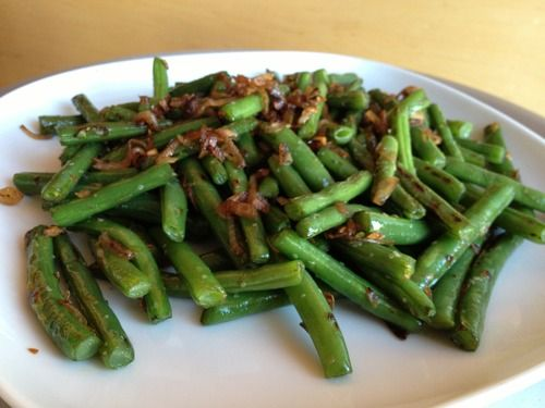 dry fried green beans by joanie | vegetables | Pinterest