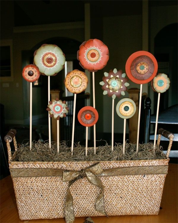 30 Creative DIY Fall Buttons Craft Ideas | Button art | Pinterest