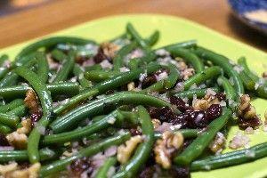 ... lemon vinaigrette green beans and walnuts with lemon vinaigrette