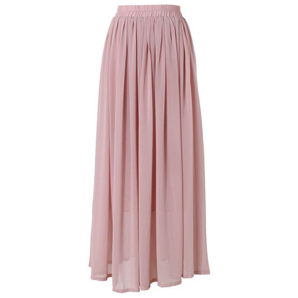 maxi skirt pink style
