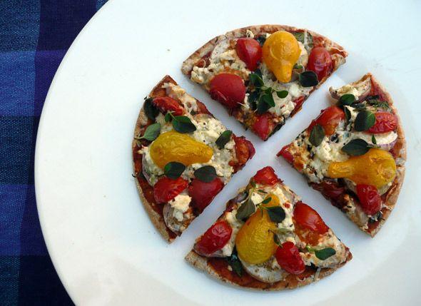 ... pizza with cilantro jalapeno pesto roasted cauliflower hummus roasted