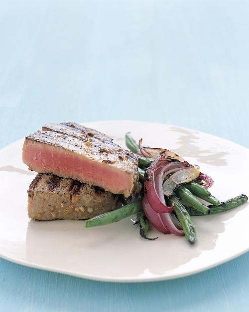 Grilled Tuna Steaks with Japanese Marinade - Martha Stewart Recipes ...