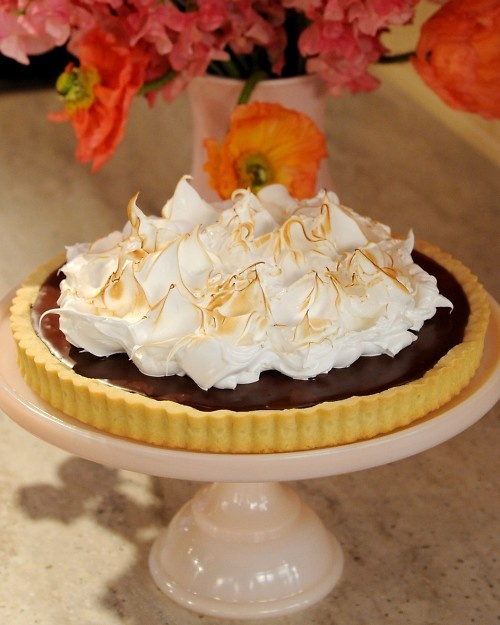 Chocolate Ganache Tart with Meringue | Recipe