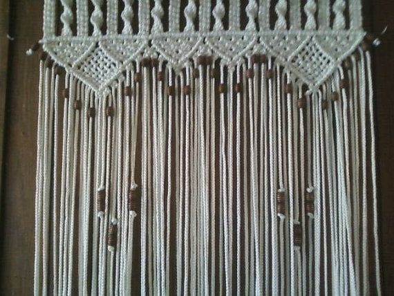 Door Curtain Macrame and Beaded For a Door on Etsy, $188.80 CAD
