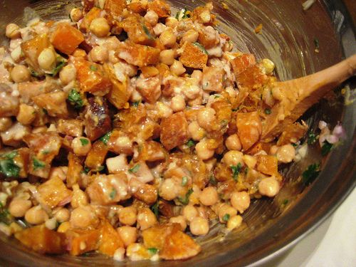 Warm Butternut Squash and Chickpea Salad | Recipes | Pinterest