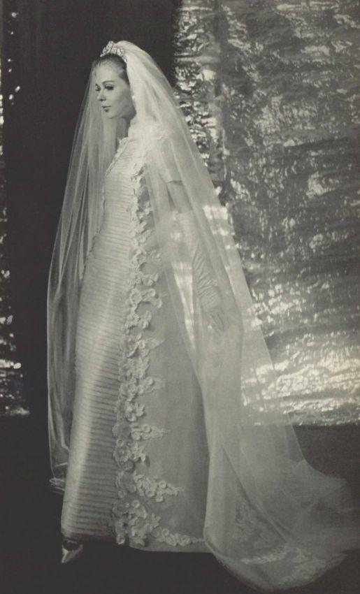 1965 balmain wedding dress vintage brides pinterest With balmain wedding dress