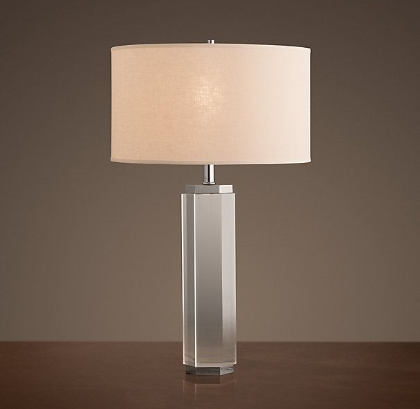 Hexagonal column table lamp crystal lighting pinterest - Restoration hardware lamps table ...