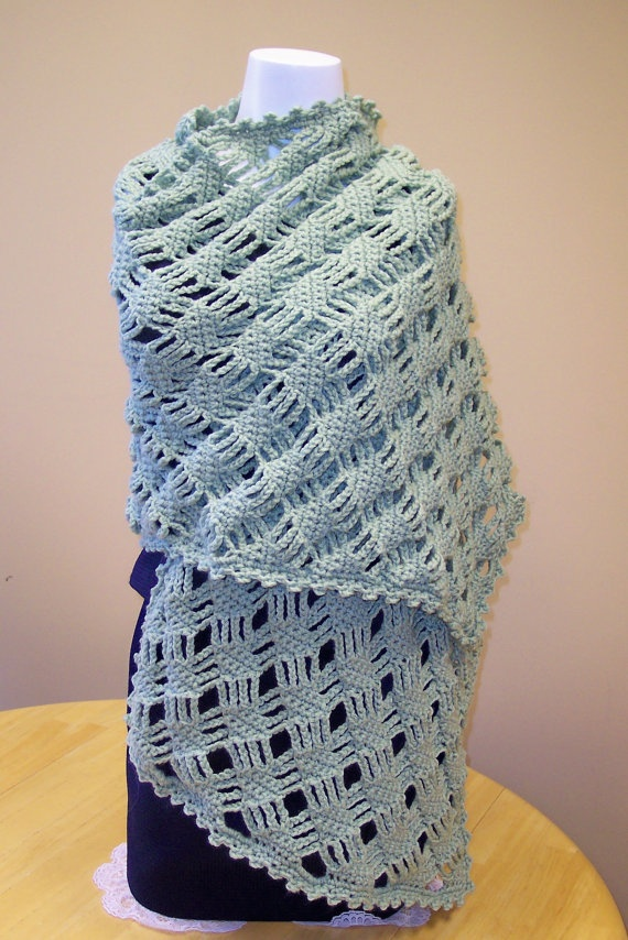 Crochet Prayer Shawl by hendersonmemories on Etsy, $85.00