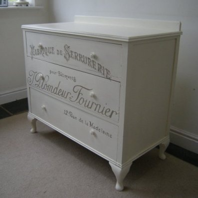 French script transfer painted furniture pinterest for Furniture transfers