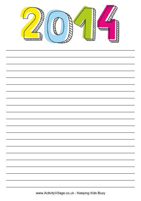 Free Printable 2014 Note Paper | Filofax | Pinterest