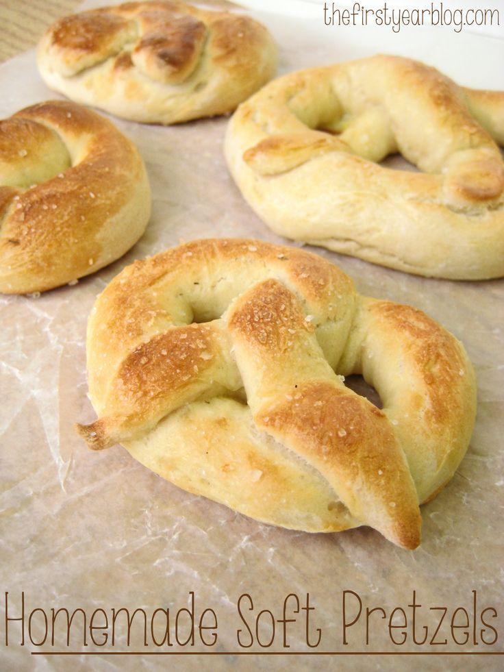 Homemade Soft Pretzels #pretzels