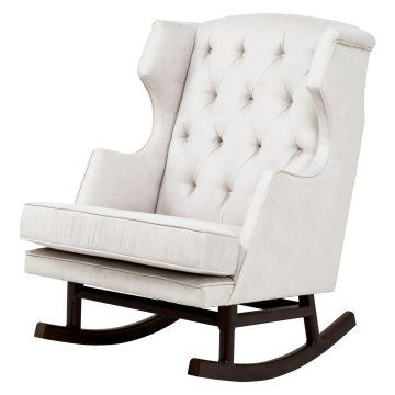 Nurseryworks Empire Rocker - Ecru Microsuede $800
