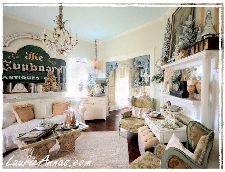 Farmhouse living room new house ideas pinterest for Living room on main