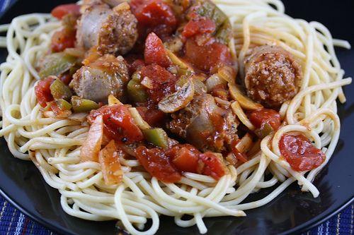 Italian sausage spaghetti | Food | Pinterest