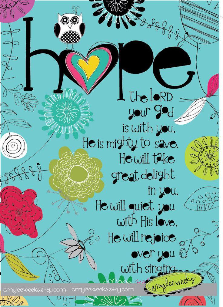 Scripture art Wise Reminders Hope bible verse by amyleeweeks