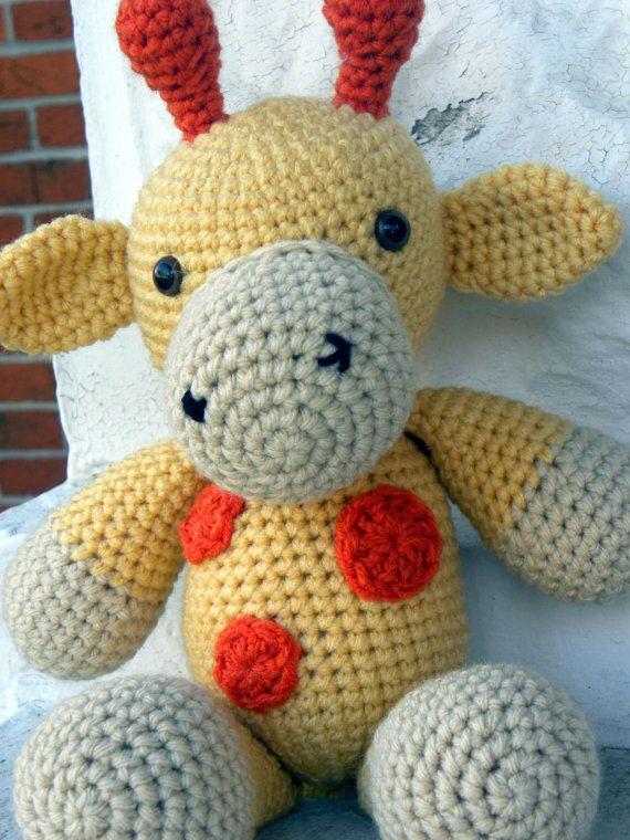 Cuddly Giraffe Amigurumi Crochet Pattern PDF by AshTreeCrochet