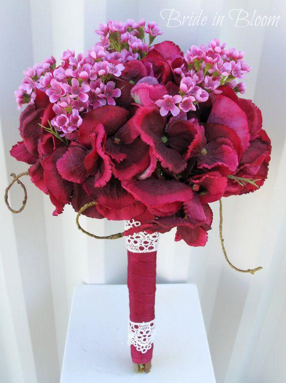 Wedding bouquet Bridal bouquet Raspberry by BrideinBloomWeddings
