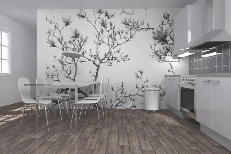 magnolia mural | Wallpaper | Pinterest