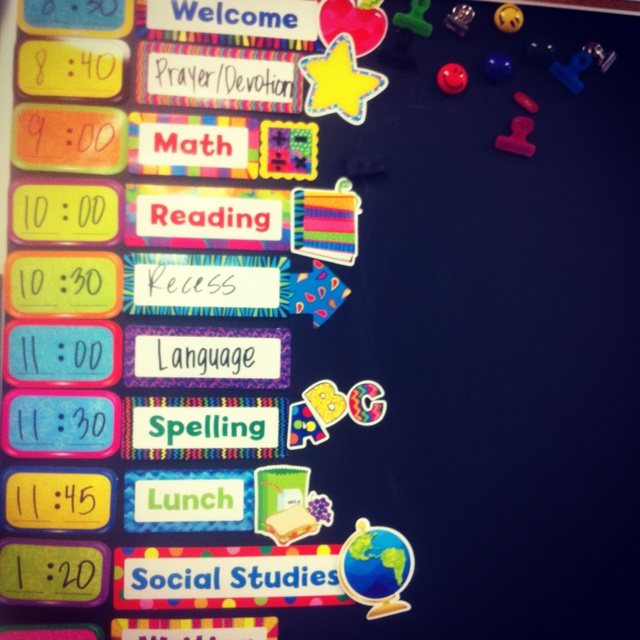 Classroom Schedule Ideas : Pinterest discover and save creative ideas