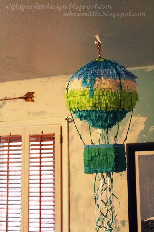 hot air balloon pull string pi ata diy night garden design blog