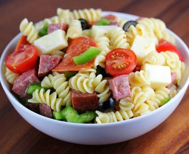 Italian Pasta Salad Recipe | Great Food | Pinterest