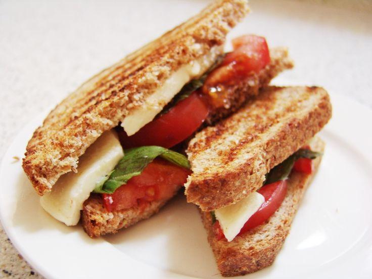 tomato and mozzarella panini