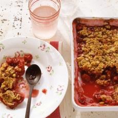 cherry pistachio crisp http www marthastewart com 318111 sour cherry ...