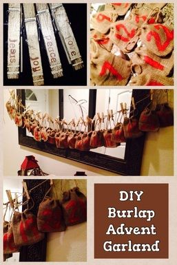 DIY Burlap Advent Banner
