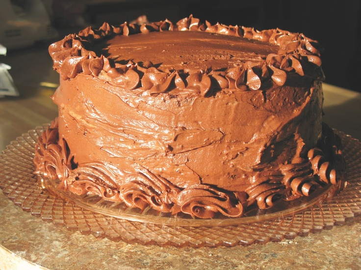 """... Perfectly Chocolate"""" Chocolate Cake with Mousse Filling and Chocolate"""
