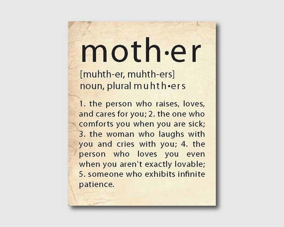 Mother 39 S Day Or Anyday Wall Art Mother Definition