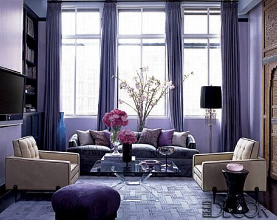 purple and brown living room home decor