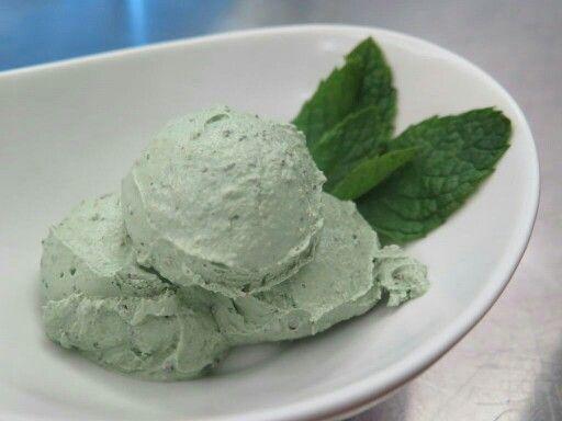 Vegan mint chip ice cream