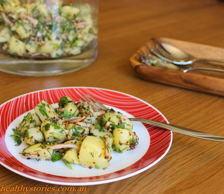 Potato Salad with Fresh Herbs and Bacon - Healthy Stories